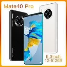 Mate40 Pro Smartphone 6.3 inch 4G 5G 16MP+32MP 12GB+512GB 5600mAh Unlocked Mobile Phones Telefones Celulares Global Version