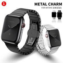 Ремешок из нержавеющей стали для apple watch band 44 мм 40 iwatch
