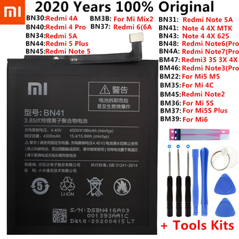 Xiao Mi Original Battery Xiaomi Redmi Note 3 3S 3X 4 4X 4A 5 5A 6 6A 7 7A 8 Pro Mi5 MIX 2 2S Mi Max 2 3 Mi4C Mi5S Plus Batteries