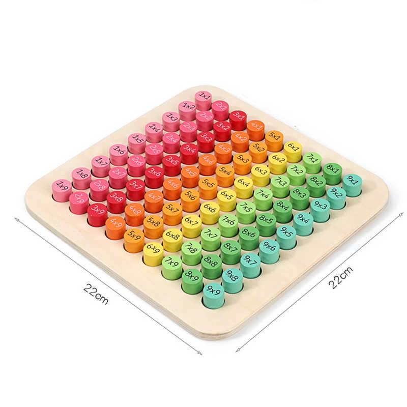 Mathematik 9x9 Vermehrung Tabelle Mathematik Spielzeug Montessori Materialien lernen Digital Frühen Bildung Holz Spielzeug Für Kinder Neue