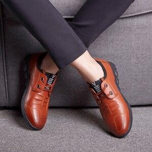 Image 5 - Misalwa 5 CM מעלית גברים של עור נעליים יומיומיות Mens מקרית סניקרס מעלית גובה הגדלת נעלי גברים בריטי אופנה
