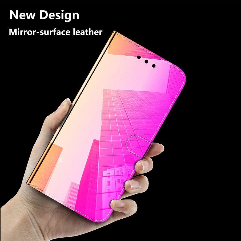 Lustrzany cekinowy futerał na telefon do Samsung Galaxy A71 etui do Samsung Galaxy A 71 A51 A 51 GalaxyA71 skórzana klapka kopertówka