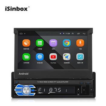 ISINBOX 2 Din Car Radio Android 8.1 Autoradio GPS Navigation Wifi 1G 16GB Mirror Link Retractable Screen Samochodowe USB