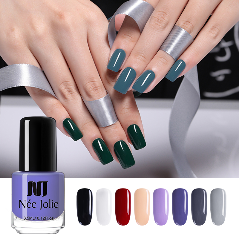 NEE JOLIE  Nail Colors Matte Nail Polish Blinking Glitter  Nail Art Polish Varnish Nail Art Decoration 3.5ml