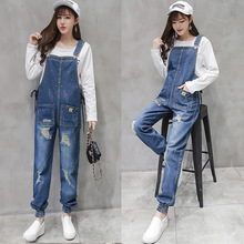 2020 Denim Maternity Strap  Jeans Trousers Suspenders Pants for Pregnant Women Overalls Jumpsuits Pregnancy Clothing Plus Size [wheat turtle]brand maternity jeans pregnancy clothes denim overalls skinny pants trousers clothing for pregnant women plus size