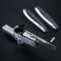 DRELD 15000RPM 20x520mm Pneumatic Air Belt Sander Polisher Grinding Machine Tool Handheld Belt Sander Metal Knife Edge Sharpener
