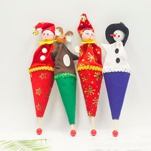 4pcs Cute Cartoon Santa Claus Snowman Christmas Dolls Home Holiday Ornaments Decorations Childrens Gifts