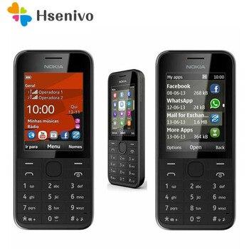 Odnowiona oryginalna nokia 208 z jedną kartą Sim wersja telefon GSM odblokowany telefon komórkowy angielski/hebrajski/rosyjski/klawiatura arabska