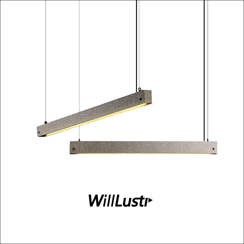 Industrial Style Waterstone Pendant Lamp Handmade Terrazzo Suspension Light Restaurant Hotel Office Bar Lounge Cement Lighting