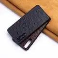 Struisvogel Huid Telefoon Geval Voor Huawei Mate 20 10 9 Pro P10 P20 Lite Soft TPU Edge Cover Voor Honor 8X Max 9 10 Nova 3 3i Capa