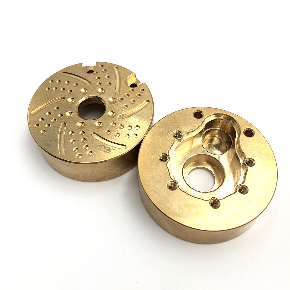 Hobbypark 4pcs Heavy Duty Brass Steering Knuckle Weight Outer Portal Drive Housing Cover Counterweight Block for Traxxas TRX-4 1//10 RC Crawler Car