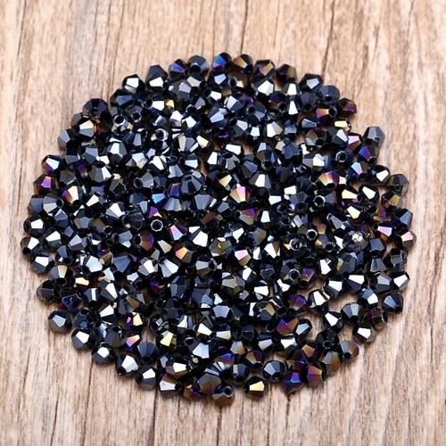 Яркие фиолетовые AB 4 мм 100 шт Австрийские хрустальные биконусные бусины 5301 свободные хрустальные бусы ожерелье браслет ювелирные изделия ручной работы S-61 - Цвет: 10