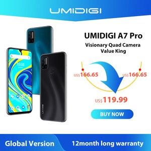 "UMIDIGI A7 Pro Phone Quad Camera Andriod 10 OS 6.3"" FHD+ Full Screen 64GB/128GB ROM LPDDR4X Octa Core Processor Global Version(China)"