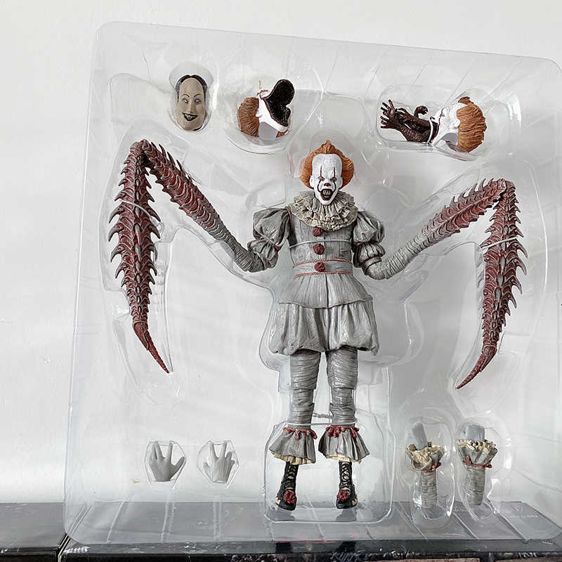 NECA It Pennywise 그림 조커 그림 Pennywise 액션 피규어 Neca 장난감 인형 공포 할로윈 선물 7inch 18cm