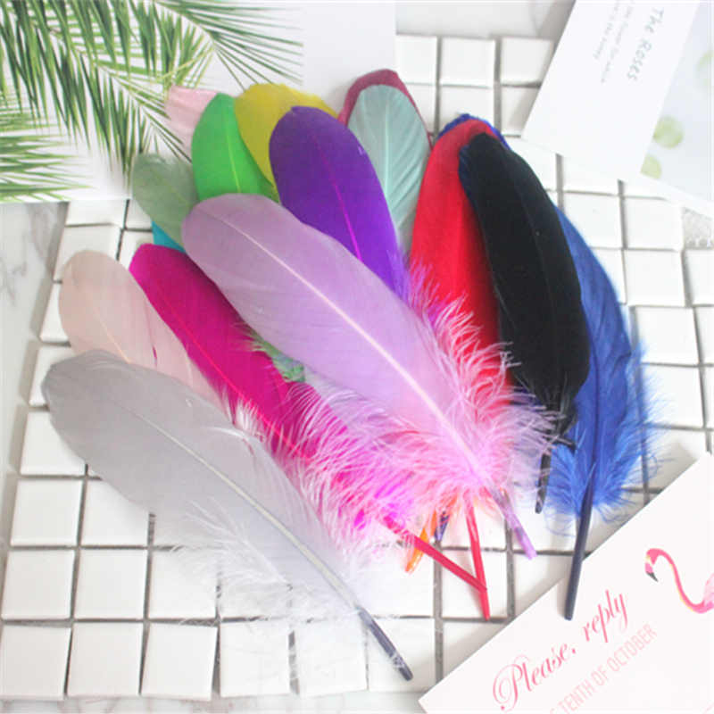 Good Quality Feather 50pcs/lot Natural White Goose Feathers 14-20cm Decoration Wedding DIY Colorful Feather Material Accessories