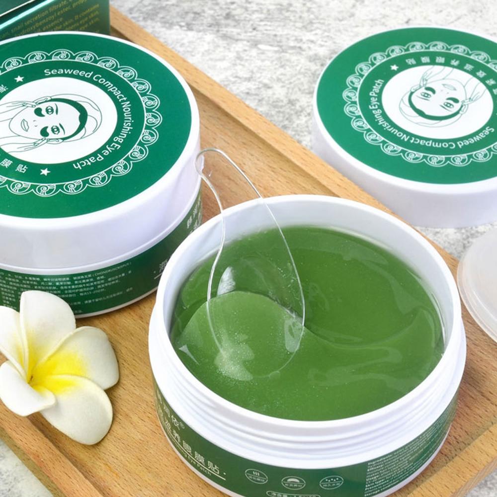 60pcs Collagen Anti Wrinkle Gel Sleep Eye Patches Seaweed Collagen Eye Mask For Under The Eye Bags Dark Circles Eye