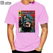 O-neck rock and roll robocop comic camiseta masculina qualidade manga curta tamanho grande homme t camisa