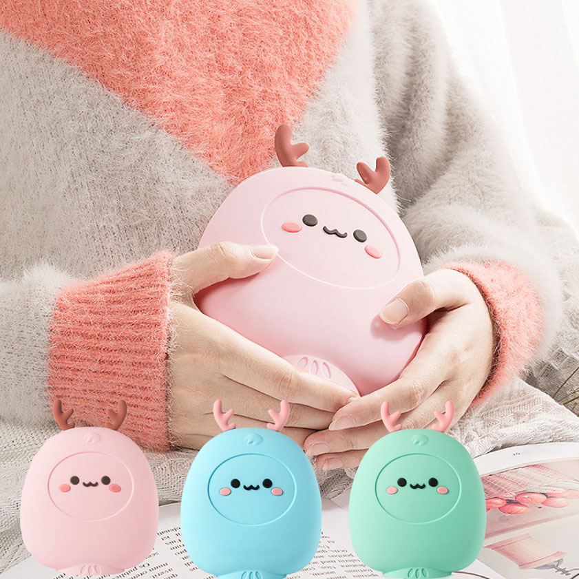 Lovely Cute Hot Water Bag Microwave Heating Silicone Hot Water Bottles Winter Warming Products Warmer bottles Pink,blue,Green