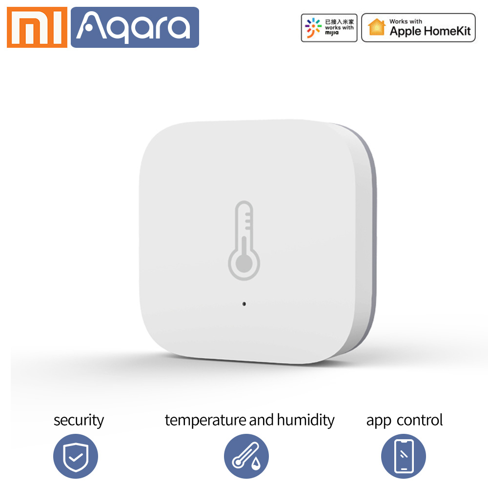 Aqara Smart Temperature Sensor Wifi Thermostat Air Pressure Temperature Humidity Zigbee Sensor App For Xiaomi Smart Home Sensor