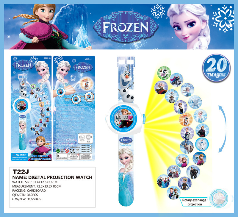 Cartoon Children Watches Disney Frozen 2  Child Wrist Watch Projection Cartoon Pattern Digita Watch Girls Gift Boys Party Toys