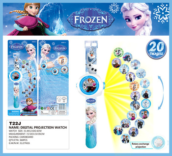 Cartoon dzieci zegarki Disney Frozen 2 dziecko Wrist Watch projekcja Cartoon wzór Digita zegarek dziewczyny prezent chłopcy zabawki na imprezę tanie i dobre opinie