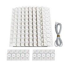 100 grânulos da lâmpada de 3v smd dos pces com o fliter ótico da lente para 32-65 o reparo conduzido da tevê conduziu a tira clara parte acessórios