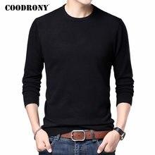 COODRONY-suéter clásico e informal para hombre, jersey de cuello redondo de Color puro, ropa de punto ajustada, C1160, novedad, primavera y otoño