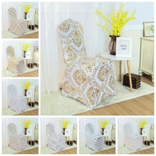 8 Colour Print Chair Cover Spandex Lycra Elastic Chair Cover For Wedding Decoration Hotel Banquet Wholesale Fit All Chairs