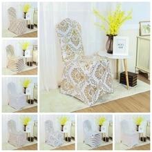8 cor impressão cadeira capa elastano lycra elástico cadeira capa para decoração de casamento hotel banquete atacado caber todas as cadeiras