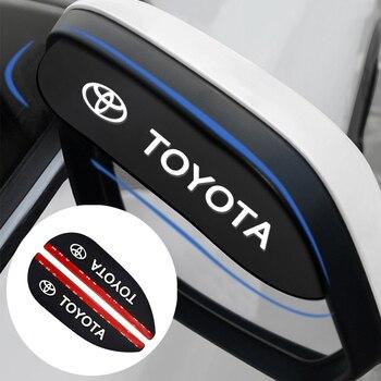 цена на 2pcs Car Styling Safety Soft Rubber Rearview Mirror Rain Eyebrow for Toyota Corolla Yaris Rav4 Avensis Auris Camry C-hr 86 Prius
