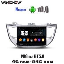 """Dsp 10.1 """"アンドロイド10.0 4ギガバイトのram 8コア64ギガバイト車dvdプレーヤーgps navigaラジオ無線lan、ブルートゥース5.0現代IX35ツーソン2015 2017"""