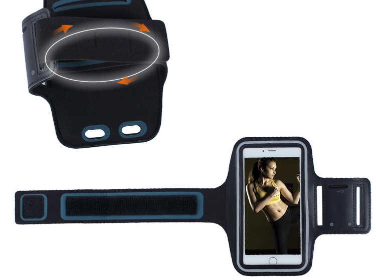 Uniwersalna opaska na ramię telefon etui na iphone'a 7 8 x dla xiaomi dla huawei Case bransoletka do uprawiania sportu z etui na telefon etui paska do biegania torba na siłownię 5.5 cala