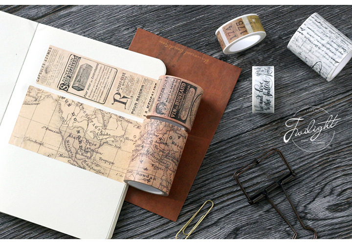 Купить с кэшбэком Retro Washi Tape set Vintage  Decoration Scrapbooking  Masking washitape Decorative wash whasi decorada stickers journal