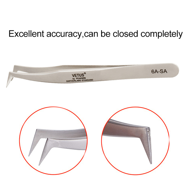 Makeup Professional Eyelash Tweezers 3D Volume Eyelash Extension Tweezer Fan Lash Eyebrow Tweezers VETUS Excellent Closure 1