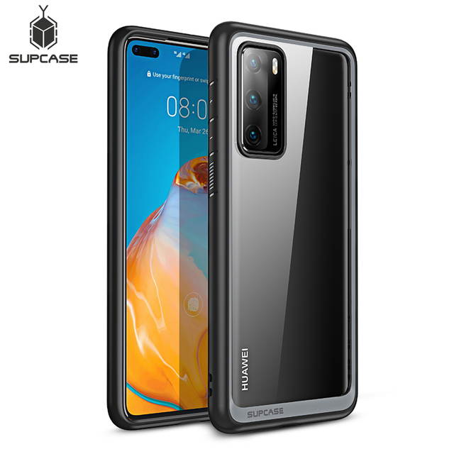 Pour étui Huawei P40 (sortie 2020) SUPCASE Style UB mince Anti coup de protection hybride Premium pare chocs + PC étui transparent