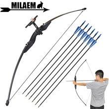 30/40lbs Archery Recurve Bow Straight Sight 80cm Spine 900 Fiberglass Arrow Training Shooting Accessories