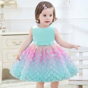 Летнее свадебное платье с цветочным рисунком для маленьких девочек; Платье принцессы для первого причастия; Вечернее платье для маленьких ...