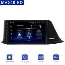 Android10.0 araba radyo Toyota C HR 2016 2017 2018 multimedya oynatıcı GPS Navi DSP CarPlay 1280*720 IPS ekran 4GB + 64GB TDA7850