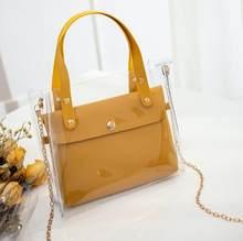 Ücretsiz kargo Britt tui 2020 şeffaf çanta kız yeni moda trendi Mini çanta Mini jöle anne çanta