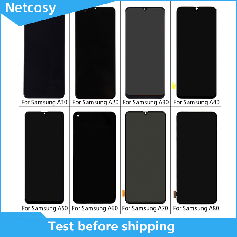 For Samsung A10 A20 A30 A40 A50 A60 A70 A80 LCD Display Screen Touch Digitizer Original High Quality Replacement Broken Parts