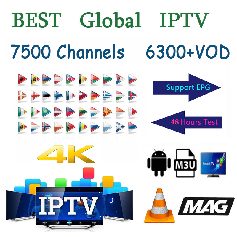 Europe Arabic Spain IPTV Subscription 7500 Live 6300 Vod Europe Arabic UK USA Germany Italy Canada Turkey  IPTV MA8 M3U