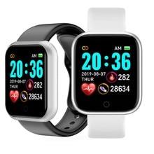 Y68 pedômetros esporte relógios tela colorida esporte caminhada passo contador crianças homens mulheres pulseiras inteligentes d20 aptidão inteligente pulseira