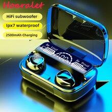 Tws bluetooth 5.1 fones de ouvido 2500mah caixa carregamento sem fio fone 9d estéreo esportes à prova dwaterproof água fones com microfone