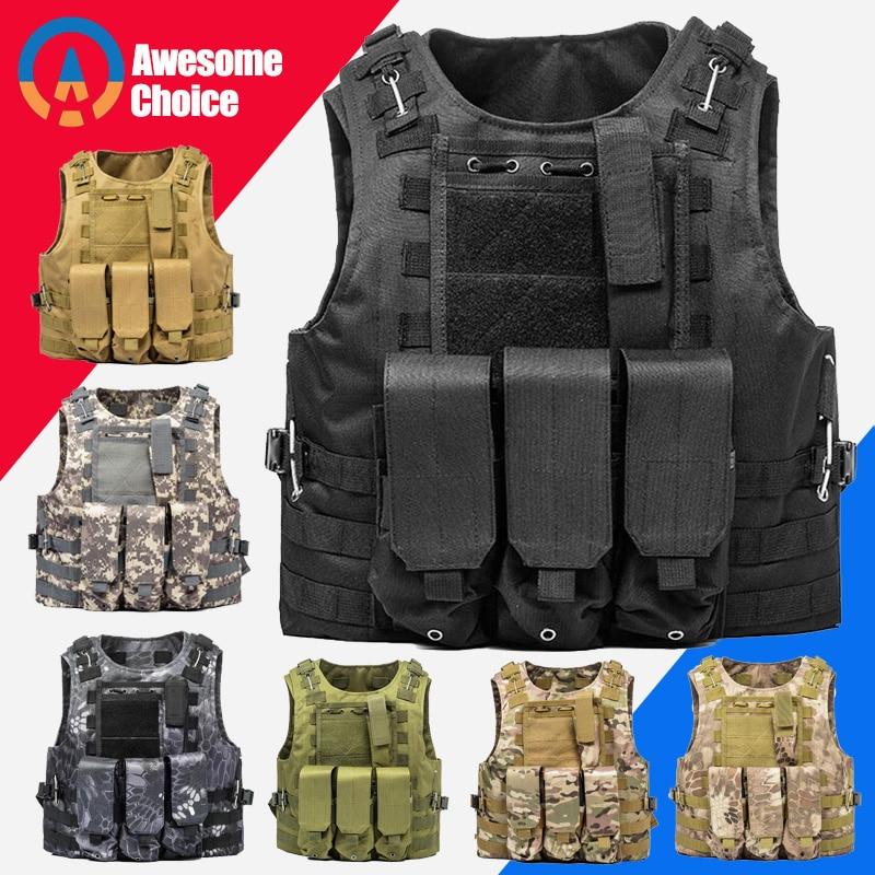 USMC chaleco táctico para Airsoft militar Molle combatir asalto placa portador chaleco táctico CS ropa al aire libre Chaleco de caza