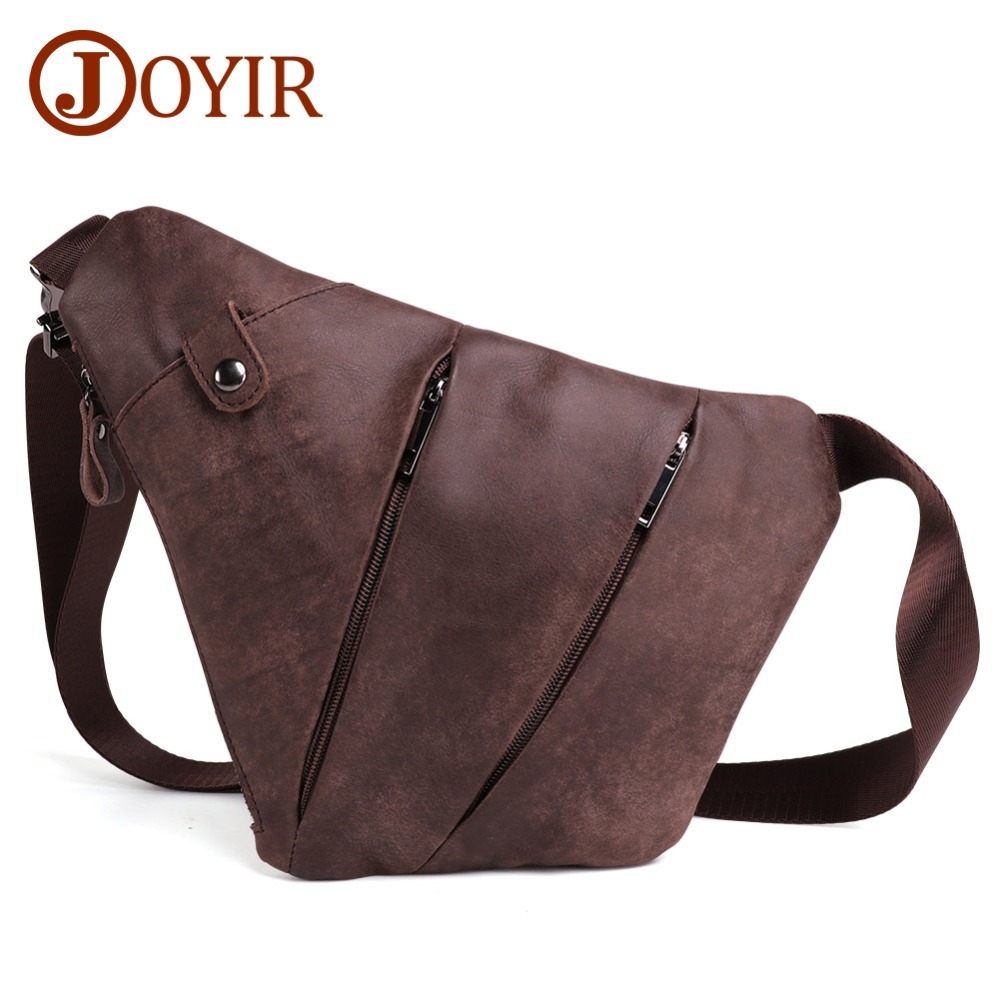 JOYIR New Arrival Genuine Leather Men Messenger Bag Casual Crossbody Bag Fashion Men's Handbag Men Chest Bag Male Shoulder Bag
