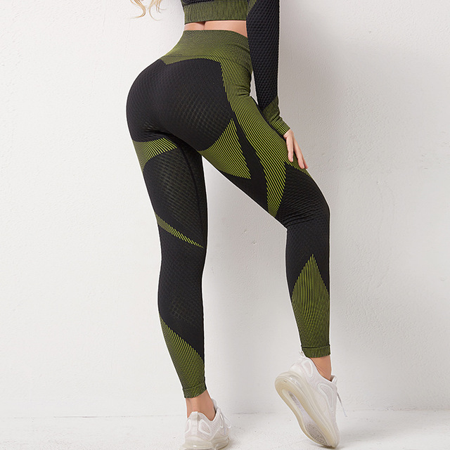 Hot Women Seamless Set Yoga Workout Set Sport Leggings and Top Outfits Gym Sets Sportswear Athletic Clothes Gym Clothing