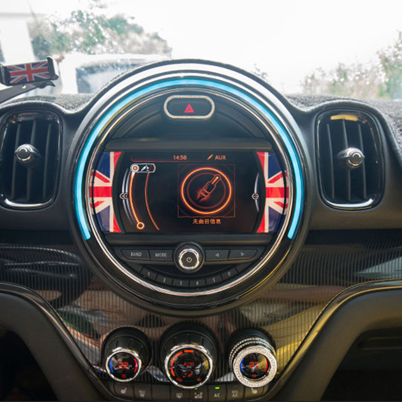 Car LCD 6 5 inches Decoration Sticker Interior Styling Accessories For BMW MINI Cooper Clubman F54 F55 F56 F57 F60 Countryman