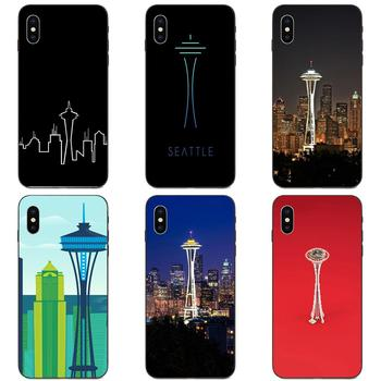 For Xiaomi Redmi Note 3 3S 4 4A 4X 5 5A 6 6A 7 7A K20 Plus Pro S2 Y2 Y3 Soft Cover Cell Phone Cases Seattle Space Needle image