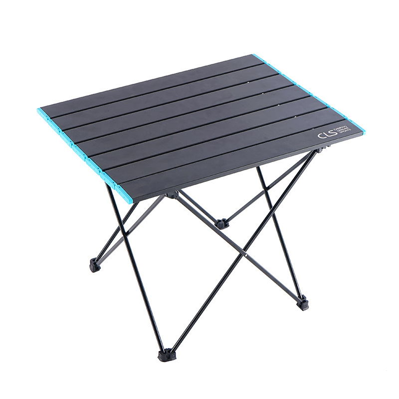 Folding Picnic Table Ultralight Aluminum Alloy Camping Table Portable Dinner Desk for BBQ Camping Hiking Fishing Family Party
