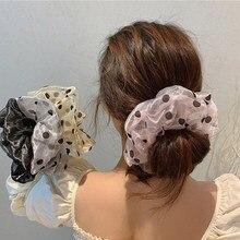 Cintas de Organza para el pelo, coleteros gigantes de gran tamaño, de malla, cintas de lazo para pelo